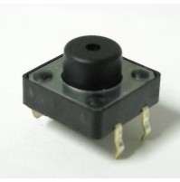 Pulsante da Circuito Stampato 12x12mm H=7,5 Tipo Normalmente Aperto (1 Pezzo)