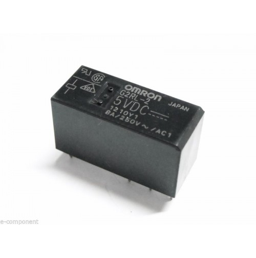 RELE' OMRON G2RL-2 Bobina 5Vdc 8A - 2 scambi da circuito stampato