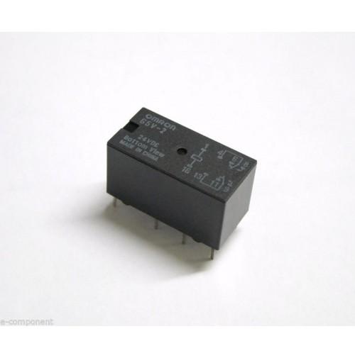 RELE' OMRON G5V-2 Bobina 24Vdc 2A - 2 scambi da circuito stampato