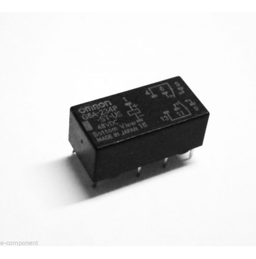 RELE' OMRON G6A-234P-ST-US Bobina 48Vdc 1A - 2 scambi da circuito stampato