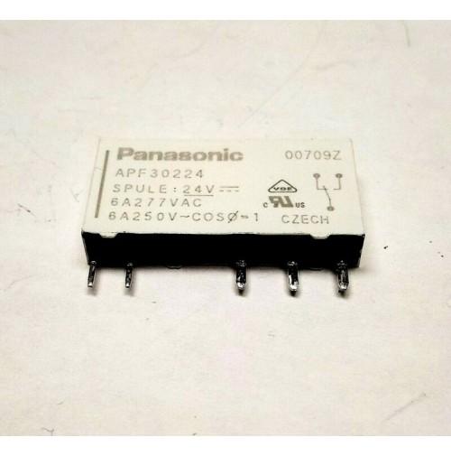 RELE PF RELAYS PANASONIC APF30224 - BOBINA 24VDC 6A/250VAC da circuito stampato