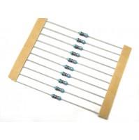 RESISTENZE 100 ohm (100R) 0.6W (600mW) 1% Metal Film - 10 Pezzi