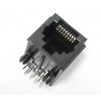 RJ45 Plastic 8 Pin Right Angle Board Connector