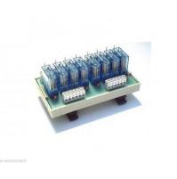 RL8 - Interfaccia a 8 Relè 12Vdc 16A con Led - Relay interface Omega Din