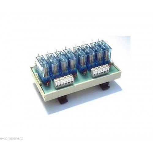 RL8 - Interfaccia a 8 Relè 12Vdc 16A con Led - Relay interface Omega Din