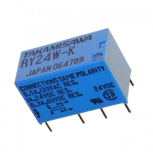 Relè RY24W-K 24Vdc Takamisawa - Made in Japan