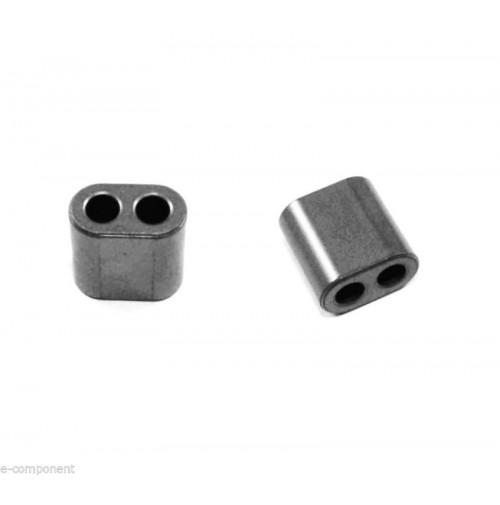 Toroide Binoculare Amidon - Two hole Ferrite Balum Core BN43-2402 (4 Pezzi)