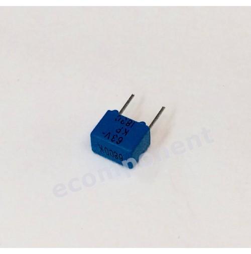 Condensatore Poliestere 6,8nF (0,0068uF) 63V K 4x7x5mm Passo 5mm ERO 5 PEZZI