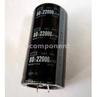 Condensatore Elettrolitico 22000uF 80V 105°C snap-in Radiale 40x82mm CHEMI-CON