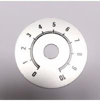 Scala Graduata da 0 a 10 dimensione Ø48mm Diamatro foro 10mm in alluminio SP11