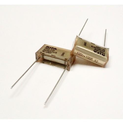 RIFA PMR 209 AB 40/085/56/B RC-UNIT 250VAC SH CAPACITOR 100n+100R X2