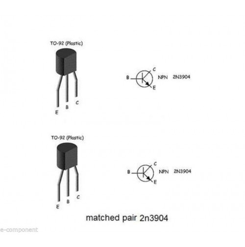 matched pair for two 2n3904 case: TO92